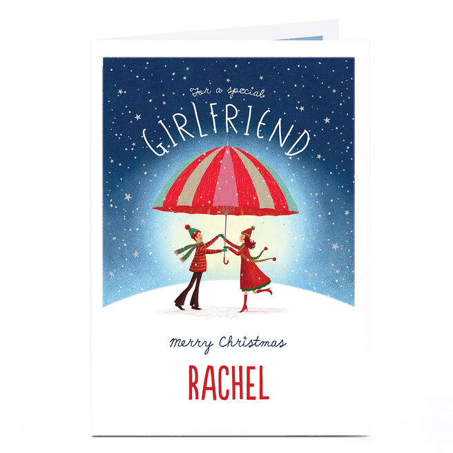 Personalised Christmas Card - Special Girlfriend