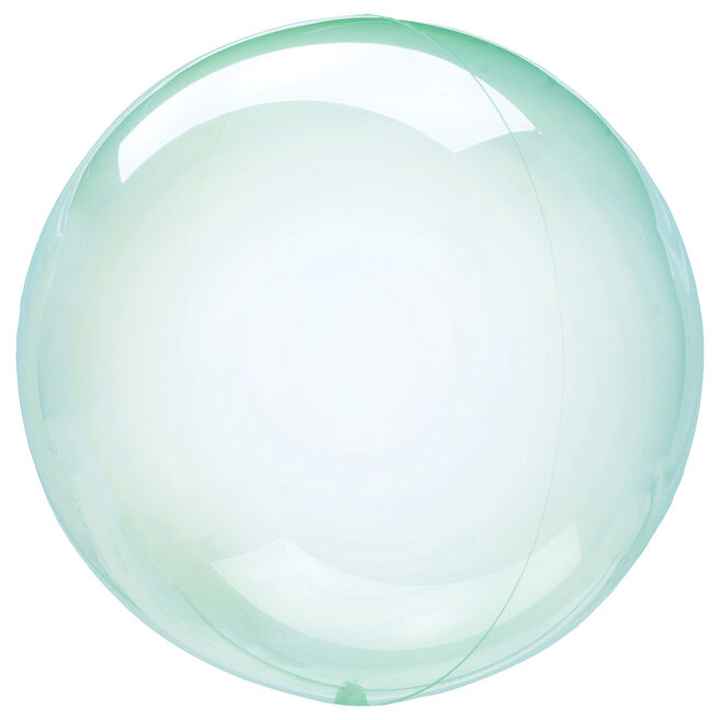 12-Inch Clear Green Orb-Shaped Helium Balloon