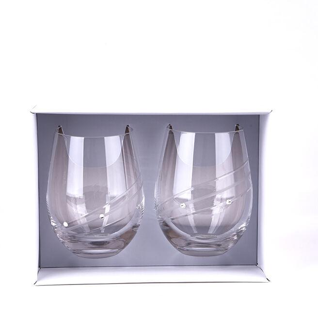 Engraved Diamante Glass Tumblers Set