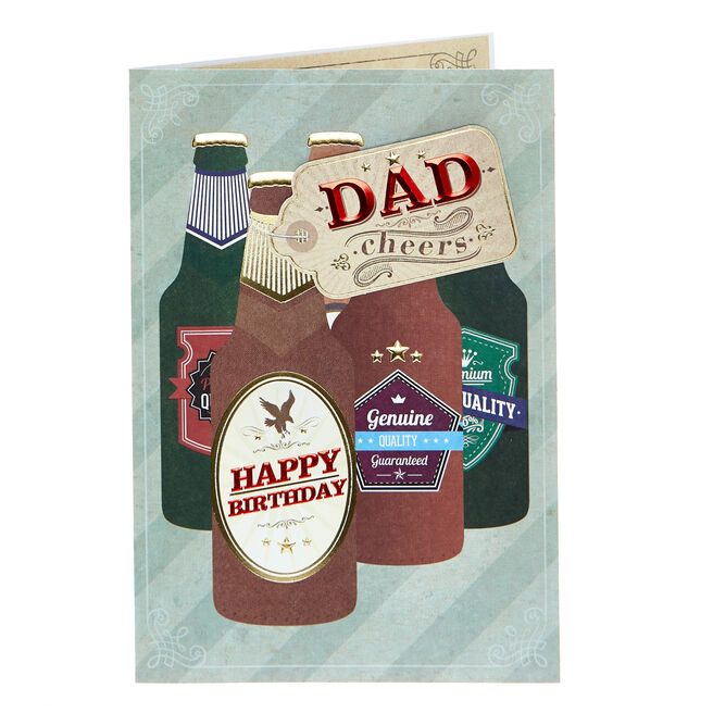 Birthday Card - Dad, Cheers