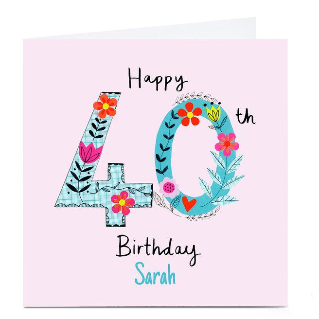 Personalised Lindsay Kirby 40th Birthday Card