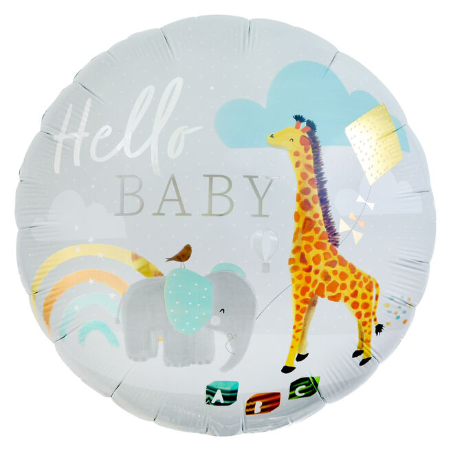 Hello Baby 31-Inch Foil Helium Balloon
