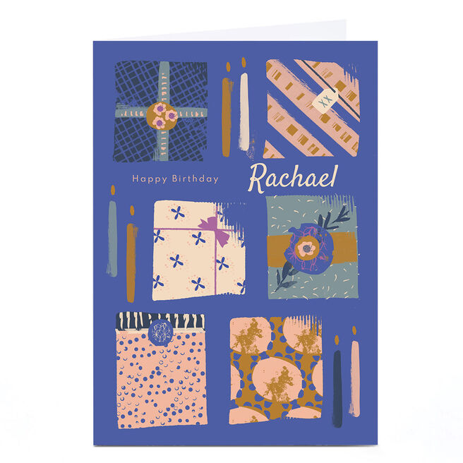 Personalised Rebecca Prinn Birthday Card - Presents