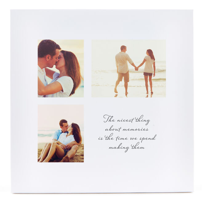 Personalised Canvas - 12x12 Inches (Square) - The Nicest Thing About Memories