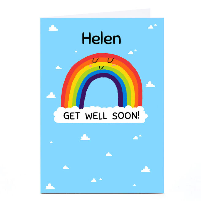 Personalised A Sense of Hew Ma Card - Rainbow Get Well