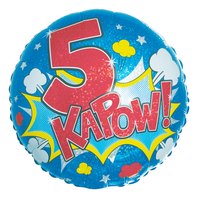 Kapow! 5th Birthday 18-Inch Foil Helium Balloon