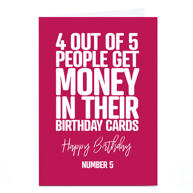 Personalised Punk Birthday Card - 4 Out Of 5