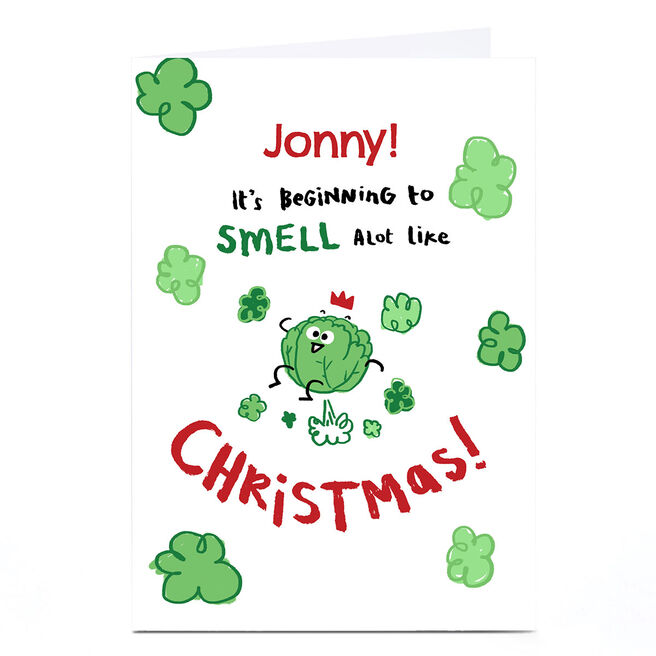 Personalised Christmas Card - Smell a lot like