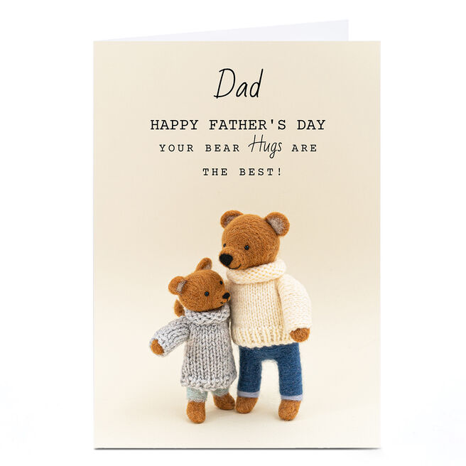 Personalised Lemon & Sugar Father's Day Card - Your Bear Hugs Are The Best
