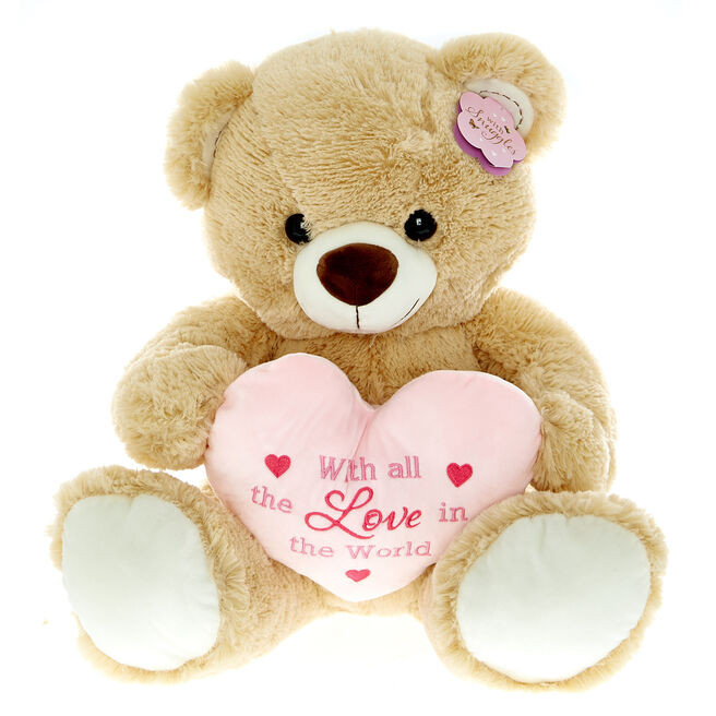 Large Bear With Heart Soft Toy