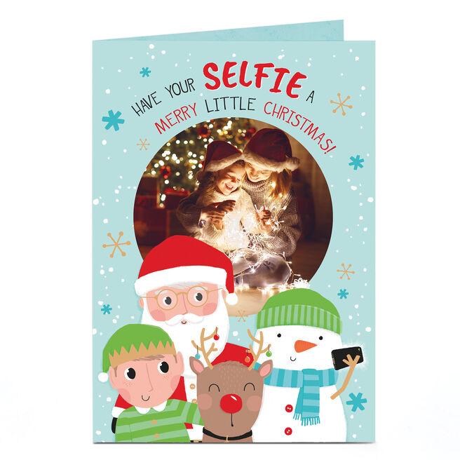 Photo Christmas Card - Christmas Selfie