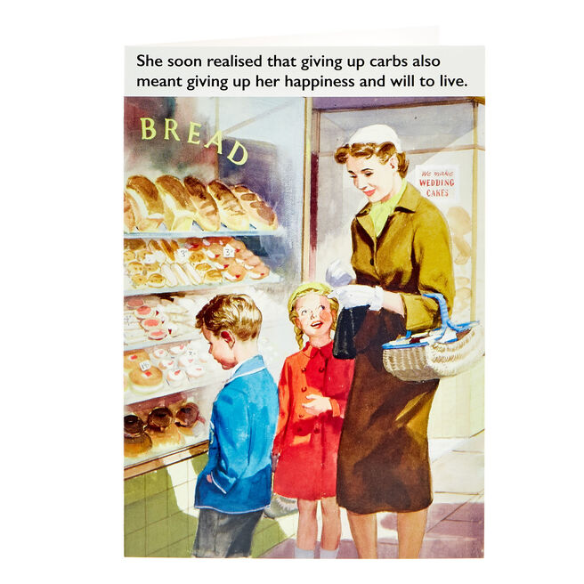 Ladybird Books Card - Giving Up Carbs