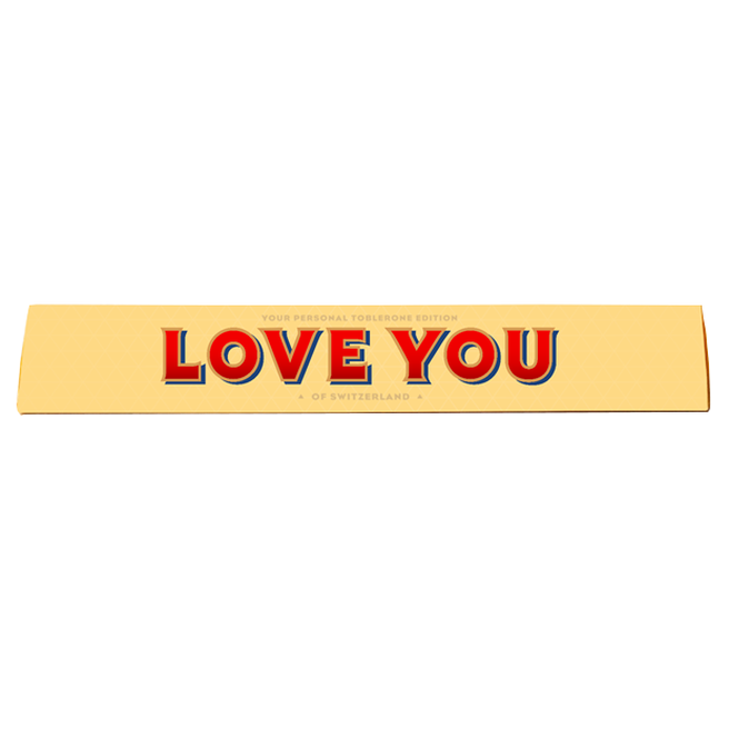 100g Toblerone - Love You
