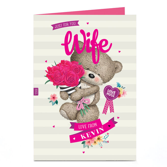 Personalised Hugs Card - Roses For You