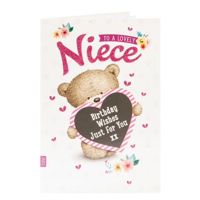 Hugs Bear Birthday Card - Lovely Niece