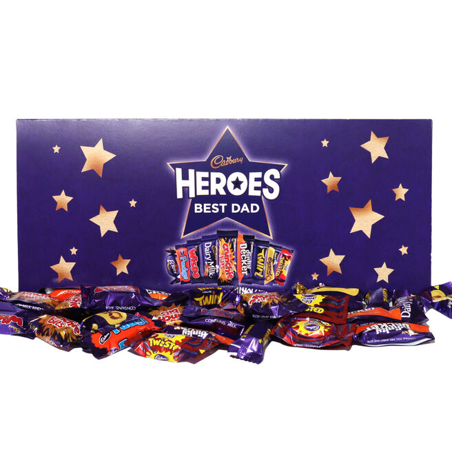 Personalised Large Cadbury Heroes Letterbox Selection - 580g