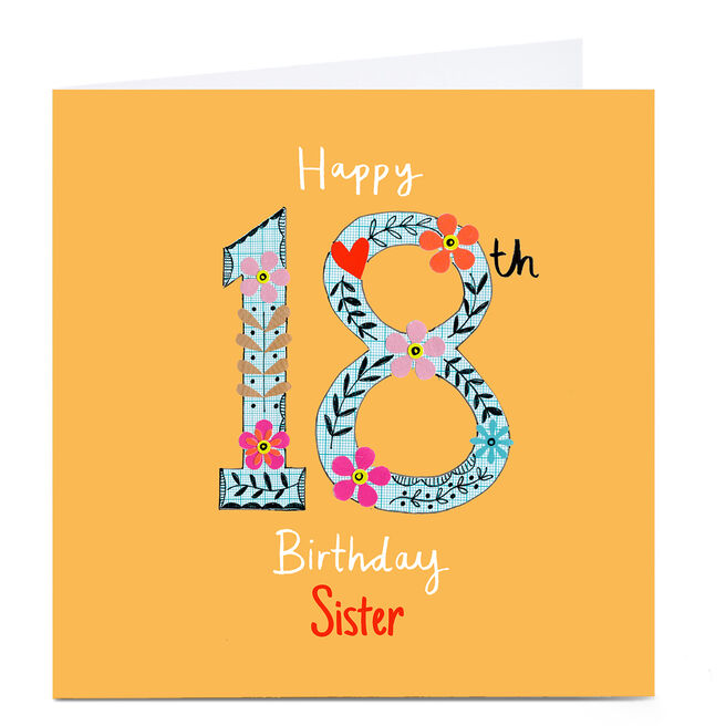 Personalised Lindsay Kirby 18th Birthday Card