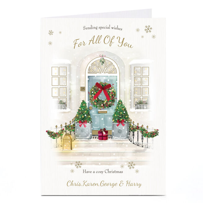 Personalised Christmas Card - Special Wishes For All Of You