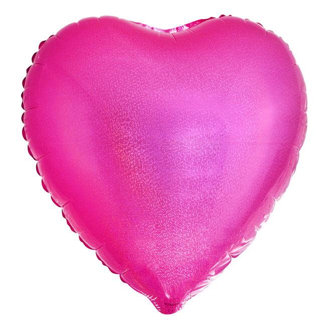 Pink Heart Foil Helium Balloon