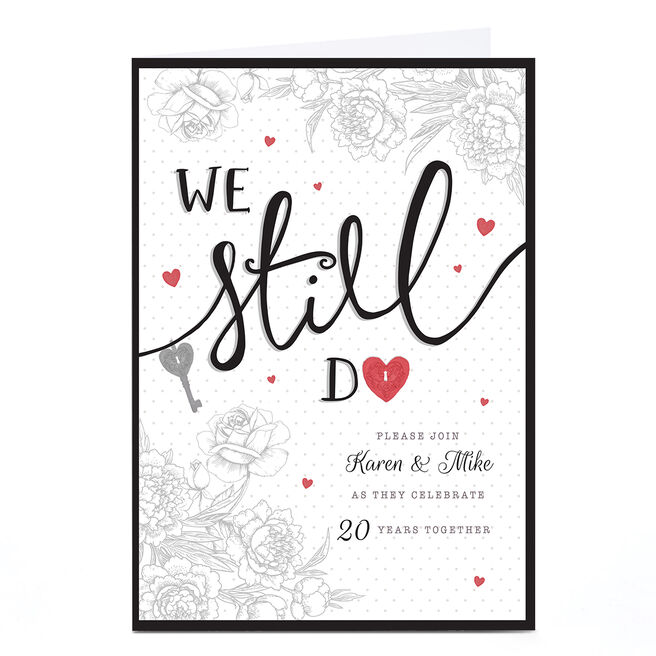 Personalised Anniversary Party Invitation - We Still Do