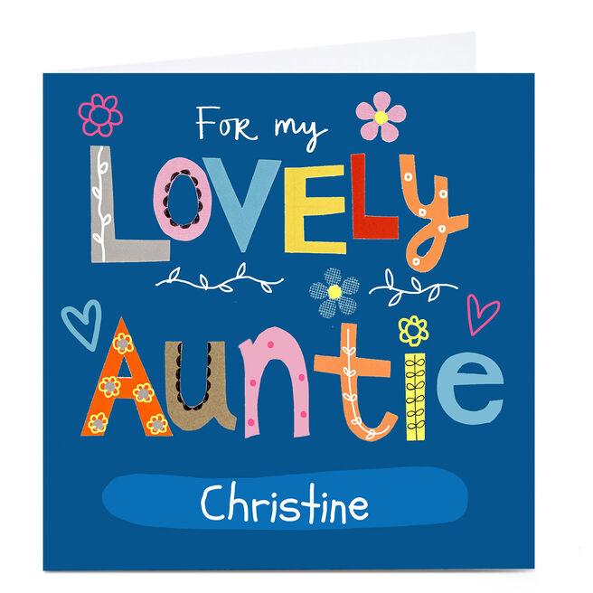 Personalised Lindsay Loves To Draw Card - Lovely Auntie