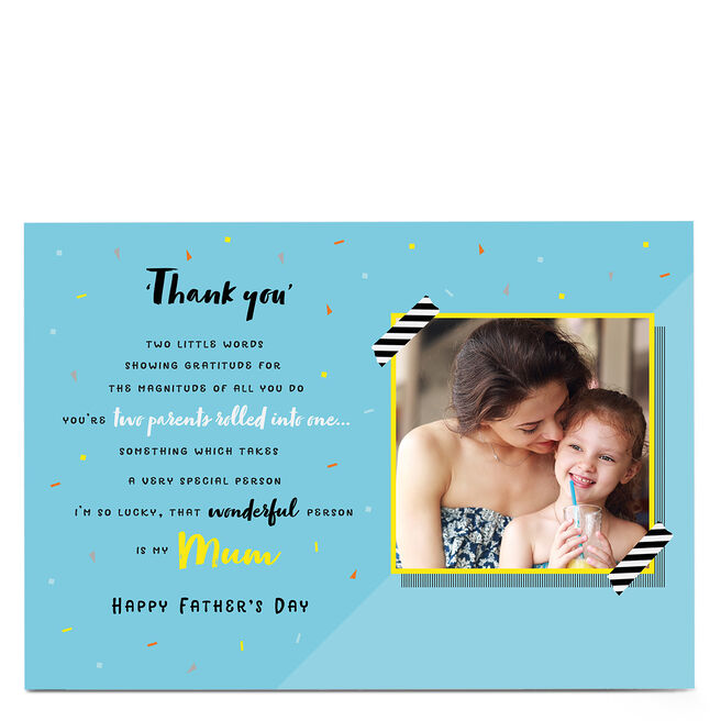 Photo Father's Day Card - Mum, Happy Father's Day