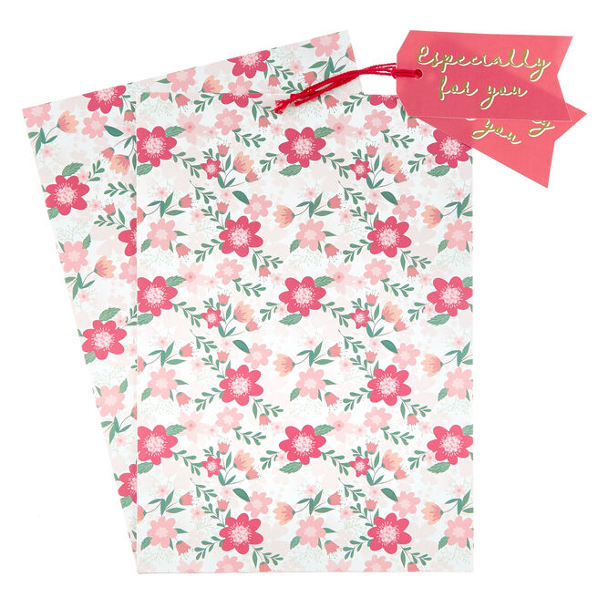 Floral Especially For You Gift Wrap & Tag Set