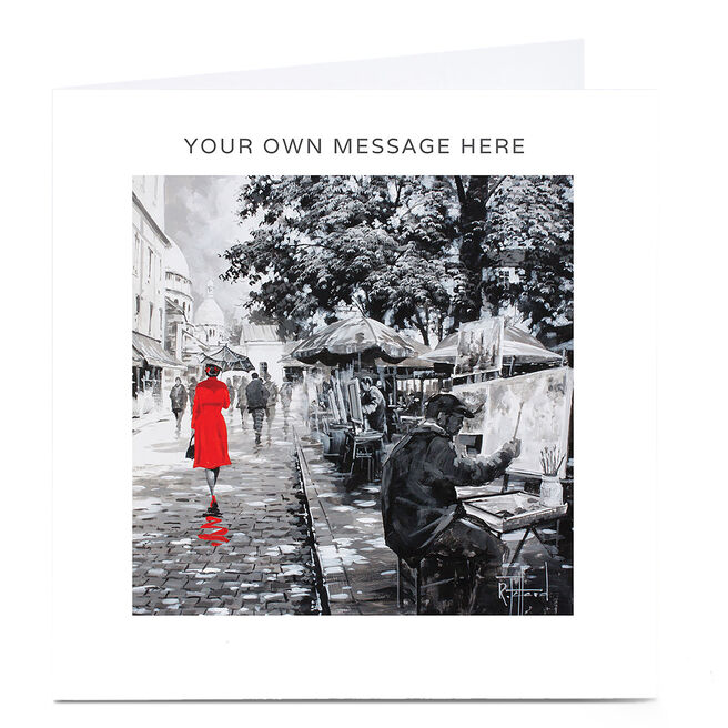 Personalised Card - Lady in Red