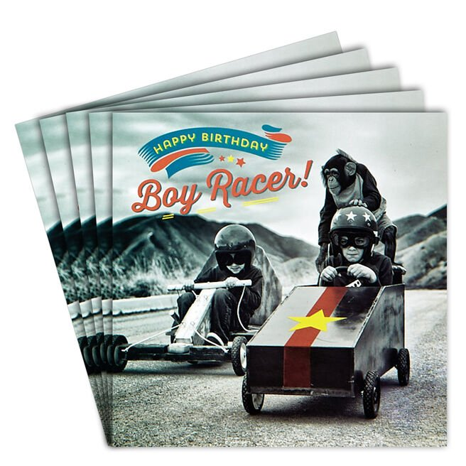 12 Birthday Cards - Boy Racer