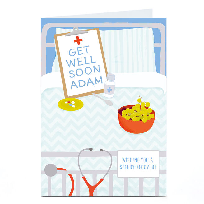 Personalised Get Well Soon Card - Speedy Recovery