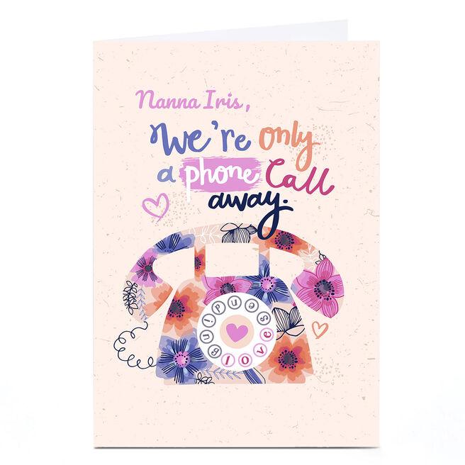 Personalised Bev Hopwood Card - A Phone Call Away, Peach