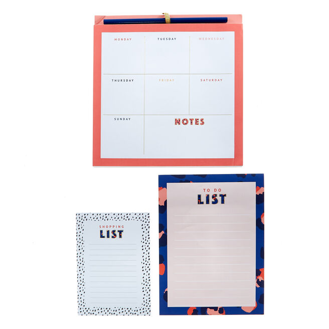 Amazing Mum Planner, Shopping List & To Do List Set