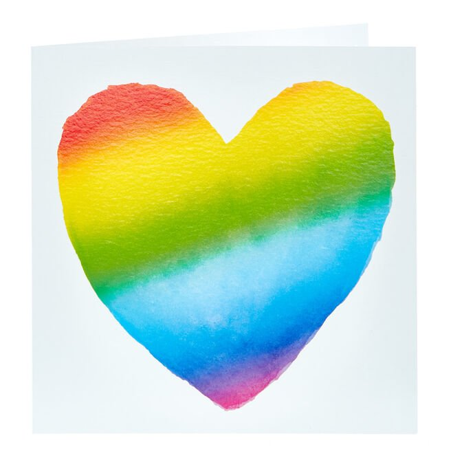 Any Occasion Card - Rainbow Heart