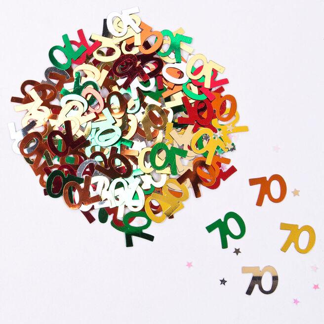 Multicoloured Age 70 Foil Table Confetti