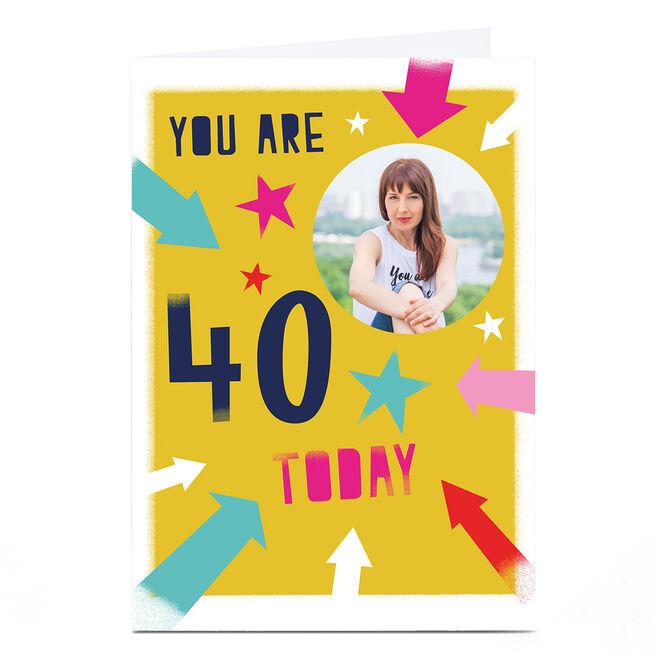 Photo Hello Munki Birthday Card - Age 40
