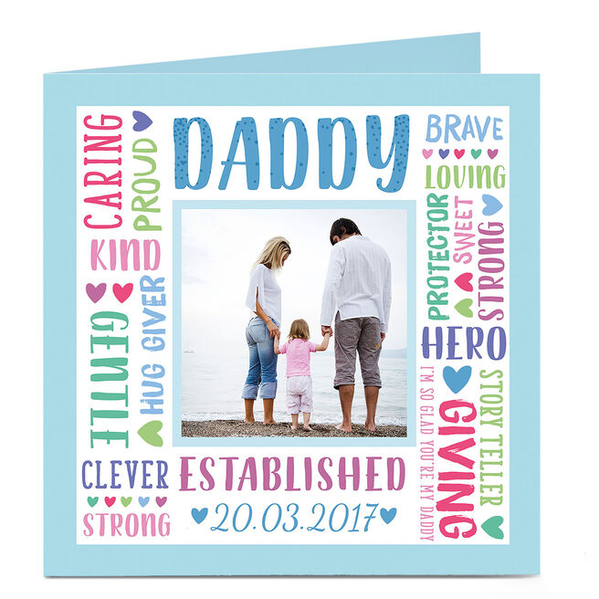 Photo Card - Daddy, Established