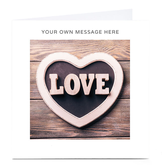 Personalised Card - Love