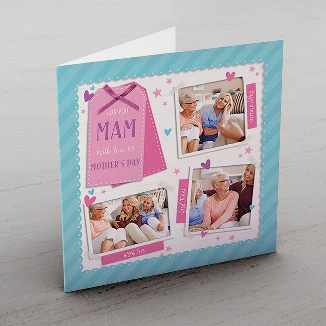 Multi Photo Card - Mam's Pink Polaroids