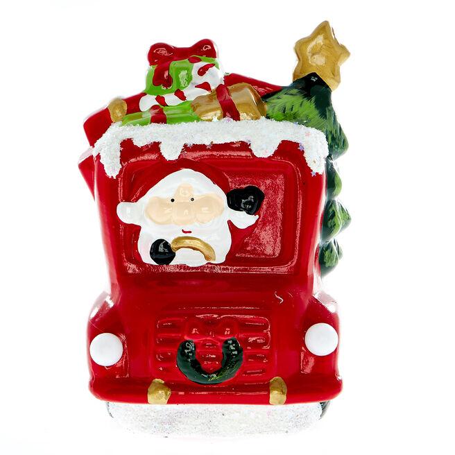 Light Up Santa Christmas Truck Ornament