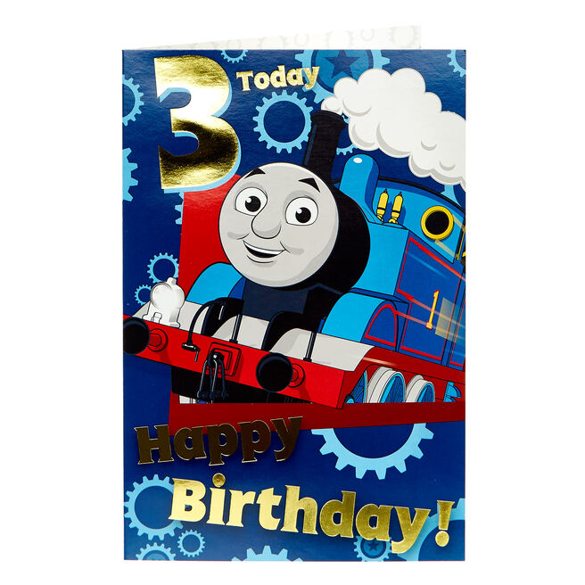 Thomas & Friends 3rd Birthday Card