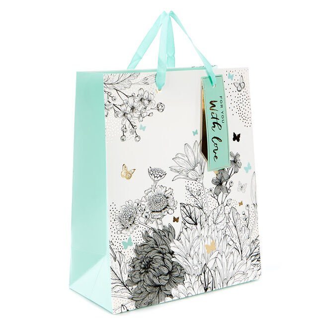 Small Flowers & Butterflies Gift Bag