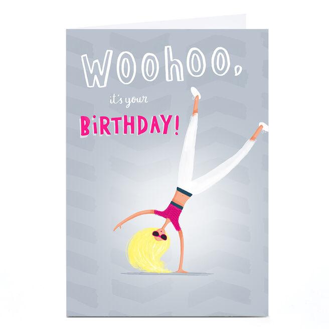 Personalised Andrew Thornton Birthday Card - Woohoo