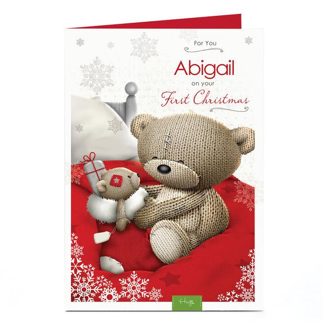 Hugs Personalised Christmas Card - 1st Christmas