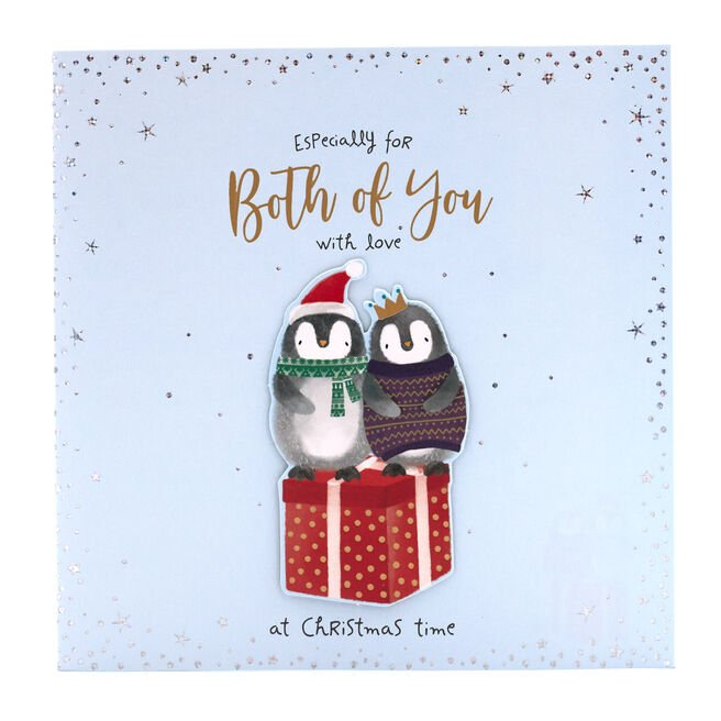 Boutique Collection Christmas Card - Both Of You penguins