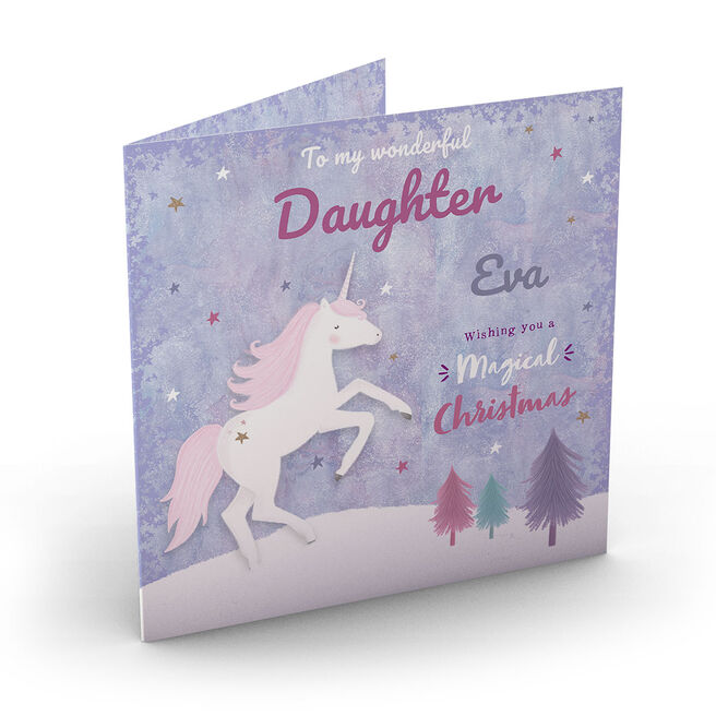 Personalised Christmas Card - Magical Christmas, Daughter
