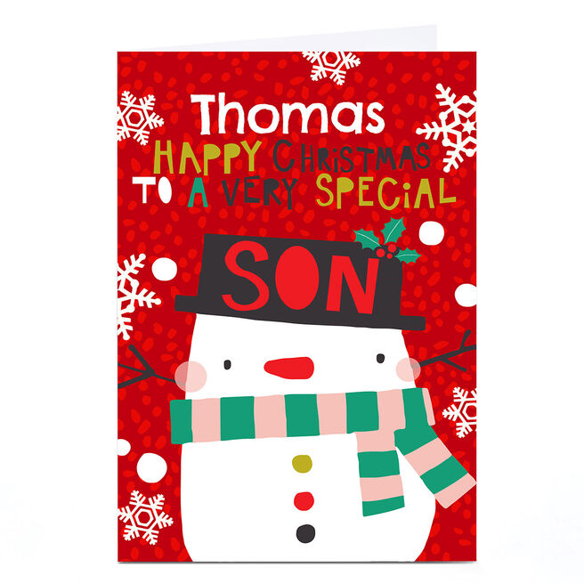 Personalised Bev Hopwood Christmas Card – Special Son
