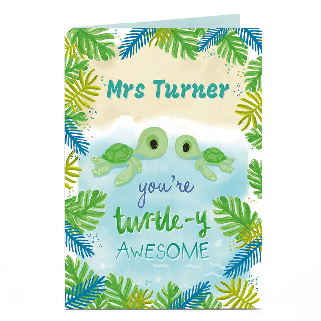 Personalised Card - Turtle-y Awesome
