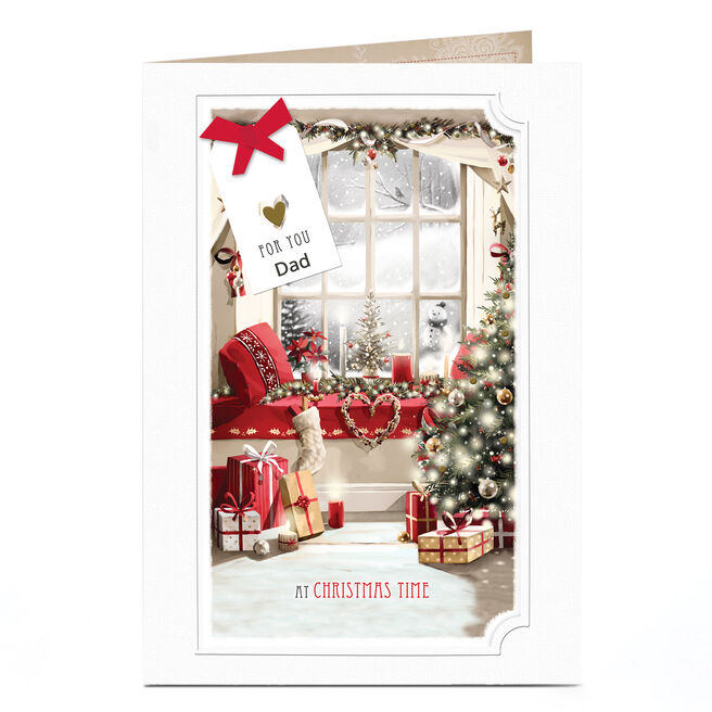 Personalised Christmas Card - Festive Window Dad
