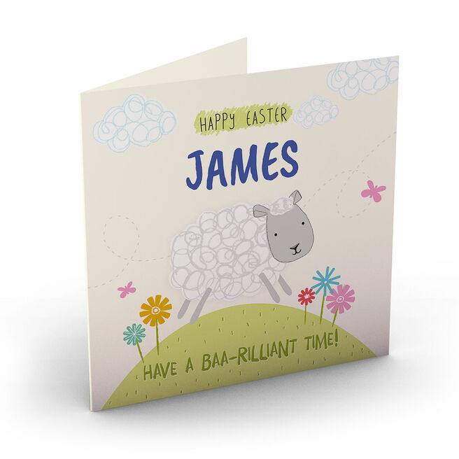 Personalised Easter Card - Baa-Rilliant Time!
