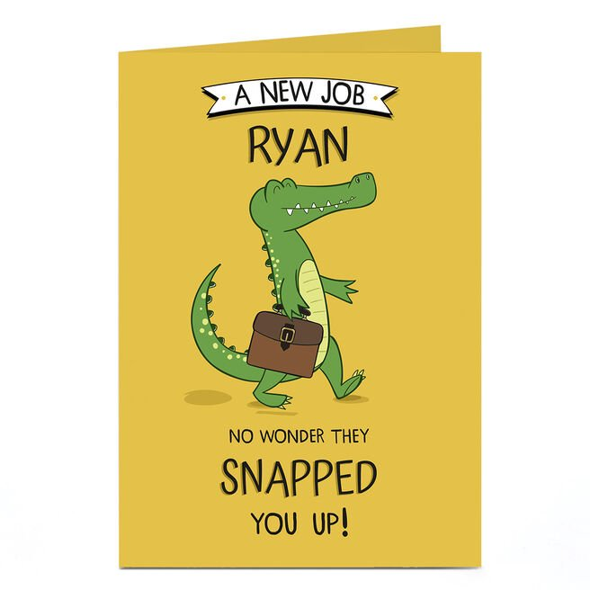 Personalised Congratulations Card - Snapped You Up!